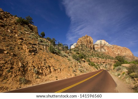 Scenic Zion National Park in Utah USA