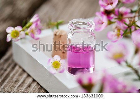 scented oil - stock photo