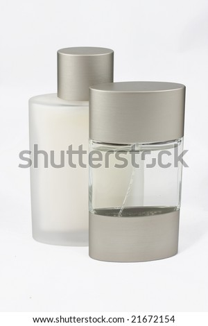 Scented water and balm for shaving
