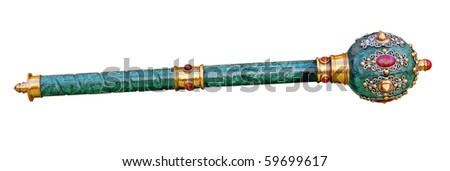 Scepter (mace) isolated, Clipping path included. - stock photo
