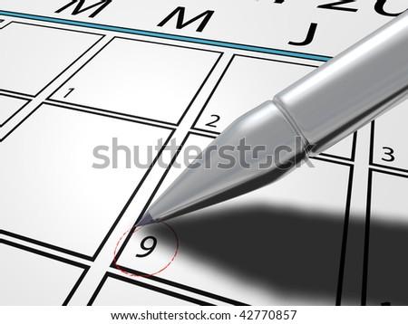 Schedule - stock photo