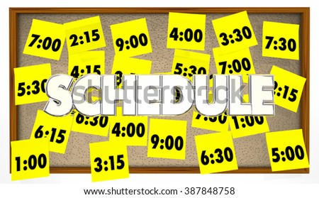 Schedule Appointments Meetings Reminders Overbooked Sticky Notes - stock photo