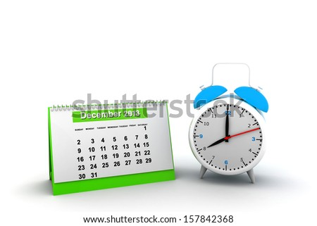 Schedule icon with clock illustration design over a white background - stock photo