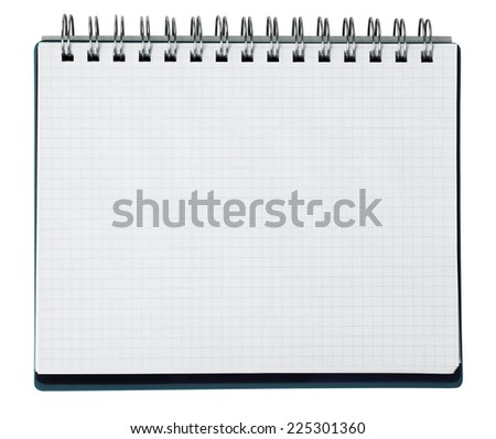 Schedule on white - stock photo