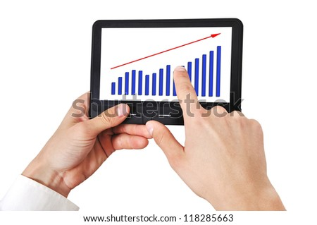 scheme growth profits on digital tablet