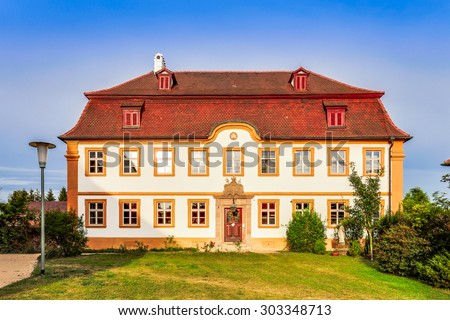 SCHESSLITZ, GERMANY - AUGUST 04 2015: Parish Church St. Kilian in the franconian City of Schesslitz in Bavaria, Germany
