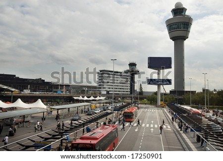 schiphol Airport in Amsterdam the Netherlands