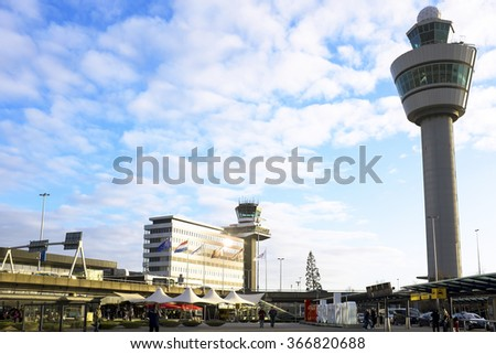 Schiphol airport near Amsterdam in the Netherlands