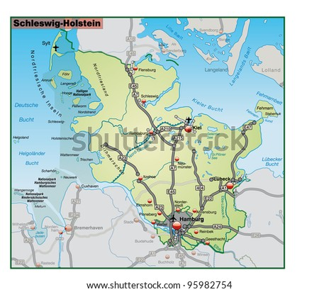 Schleswig Holstein and the surrounding area