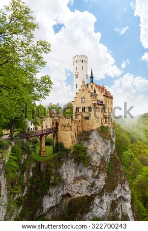 Schloss Lichtenstein castle on the cliff Germany