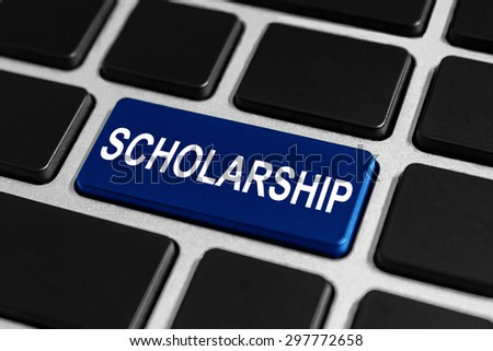 scholarship button on keyboard, education concept - stock photo