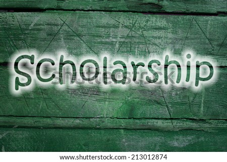 scholarship text on background - stock photo