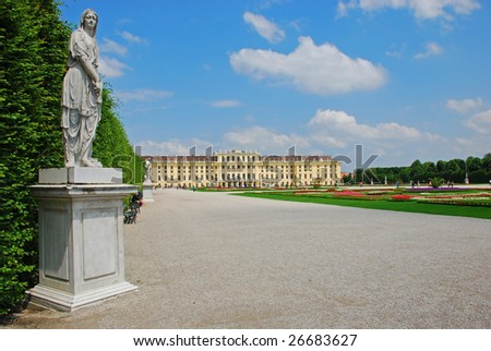 Schonbrunn Palace - Vienna - Austria - stock photo