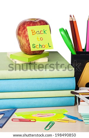 School Accessories Isolated on white background