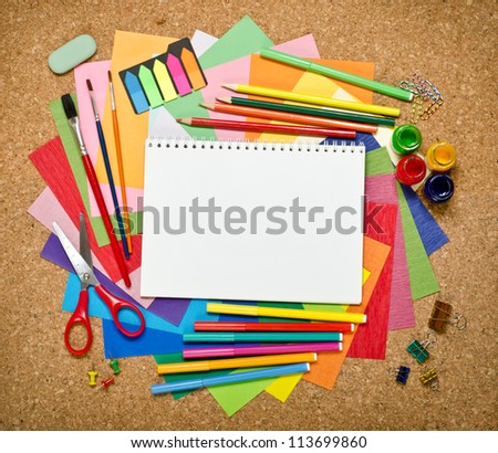 School and office accessories - stock photo