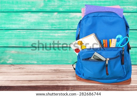 School, bag, backpack. - stock photo