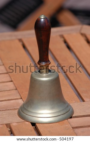 School Bell on table