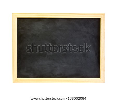 school black board isolated on a white background. - stock photo