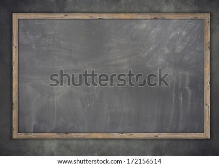 School blackboard / chalkboard - stock photo