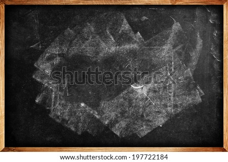 School blackboard texture as education background and copy space - stock photo
