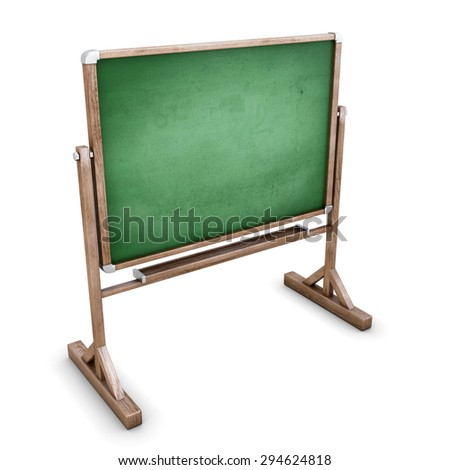 School board isolated on white background. 3d illustration.