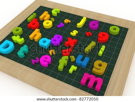 school board with colored letters