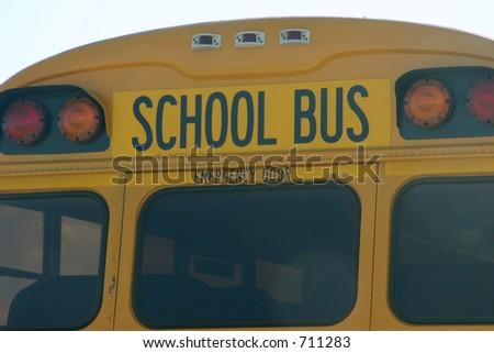 school bus back - stock photo