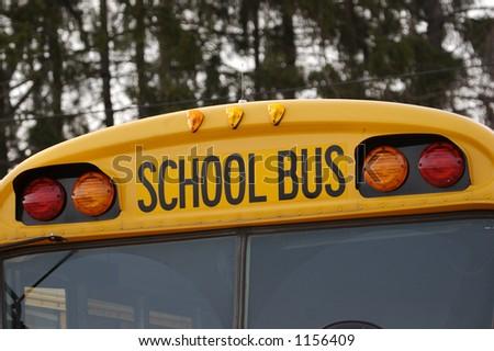 School Bus Detail - stock photo