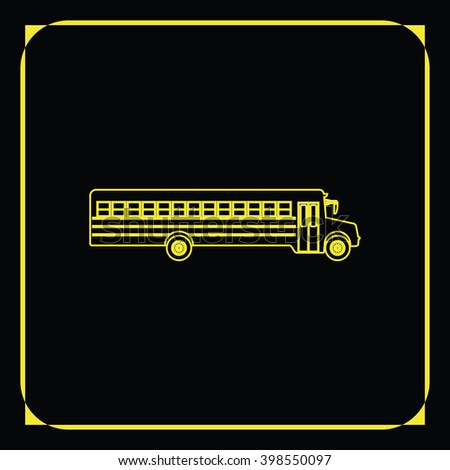 School bus icon. Transport sign.