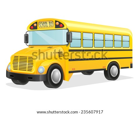school bus illustration isolated on white background