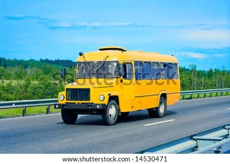 "school bus -  of ""Buses"" series in my portfolio - stock photo"