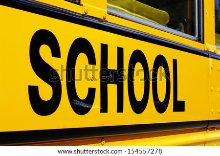 School Bus Side - stock photo
