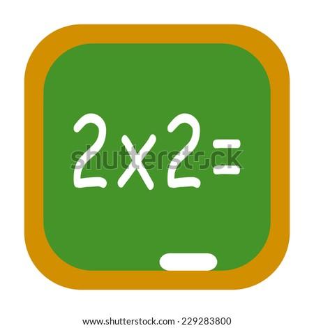 School chalkboard icon with math - stock photo