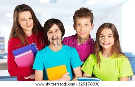 School children. - stock photo