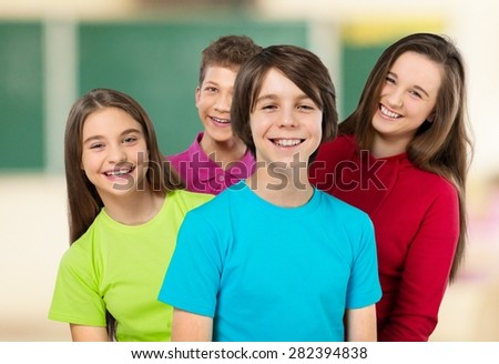 School, children, kids. - stock photo