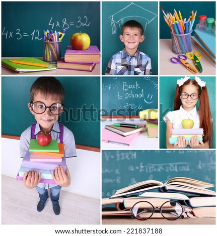 School collage - stock photo