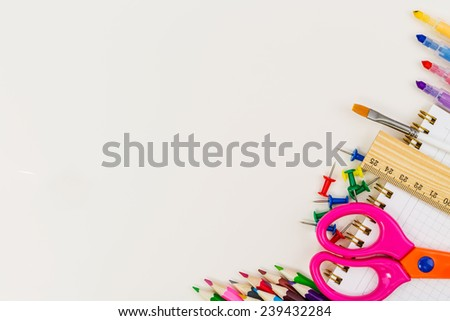 School concept isolated on white background - stock photo
