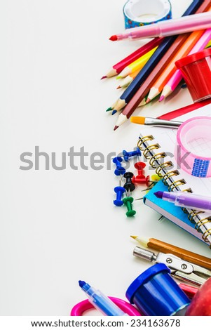 School concept on white background