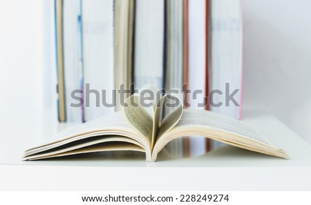 School, education. Books on the table - stock photo