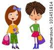 School girls - stock photo