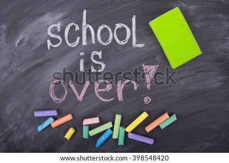 school is over - stock photo