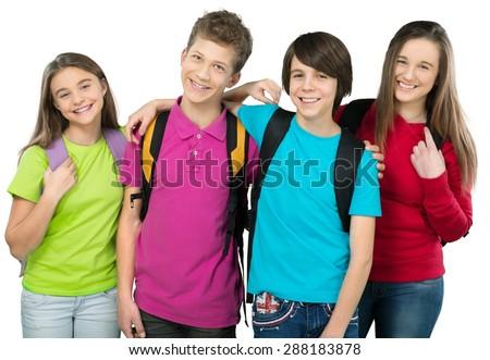 School, kid, back. - stock photo