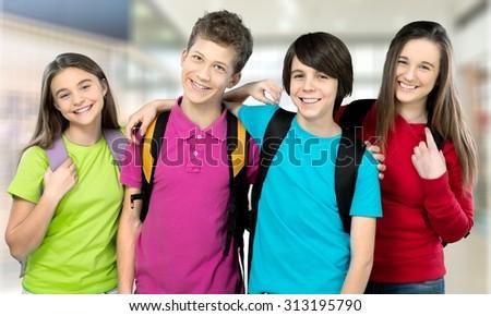 School kids. - stock photo
