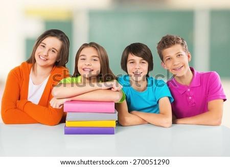 School, kids, students. - stock photo