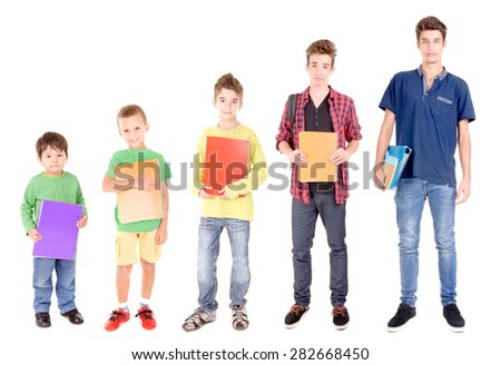 school levels progression  - stock photo