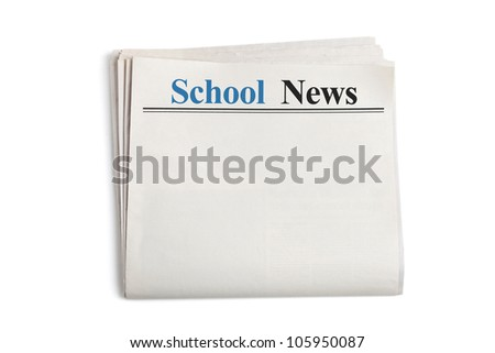 School News, Newspaper with white background