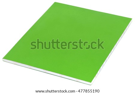 School notebook over white background