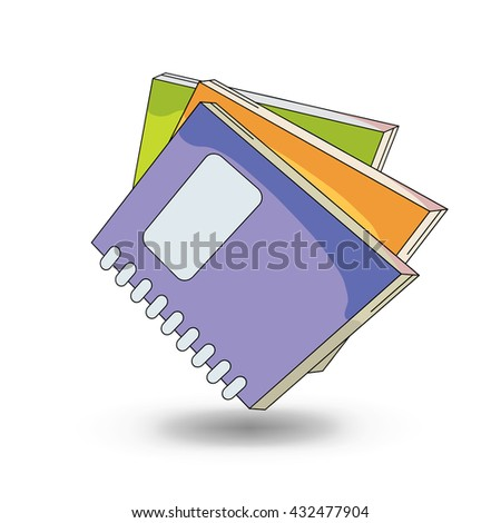 School notebooks. cartoon  style design  - stock photo