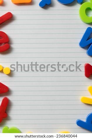 School paper background - stock photo