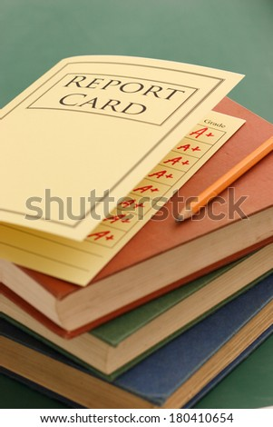 school report card - stock photo